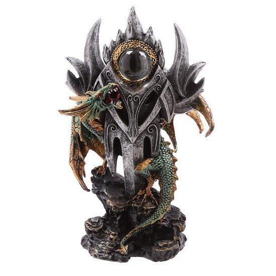 figurka w stylu fantasy - Zielony Smok i Magiczne Oko