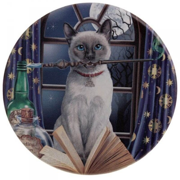 zestaw 4 podkładki pod kubki z kotami - Magiczne Koty, projekt: Lisa Parker