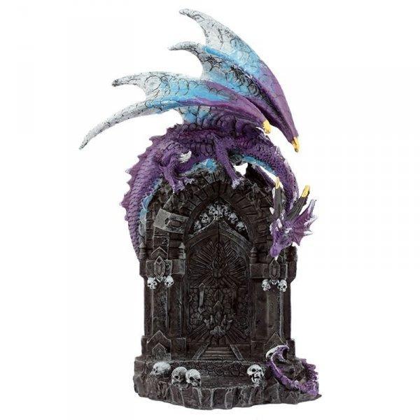 Smok Strażnik Magicznych Drzwi - figurka ze smokiem w stylu fantasy