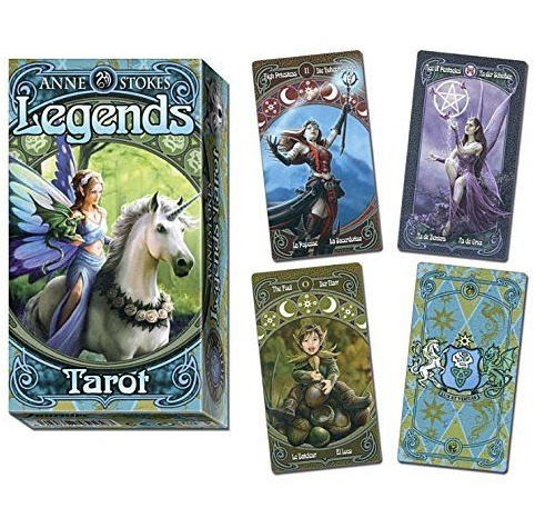 Tarot Legends - karty tarota projektu Anne Stokes