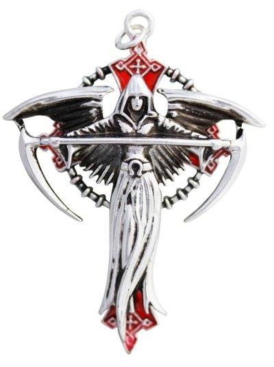 mroczny gotycki anioł - naszyjnik Vocare Carpe Noctum od Anne Stokes, talizman: Odnalezienie Przeznaczenia