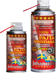 Pasta miedziana Cu 56 TOP 400ml spray JOHANSSON