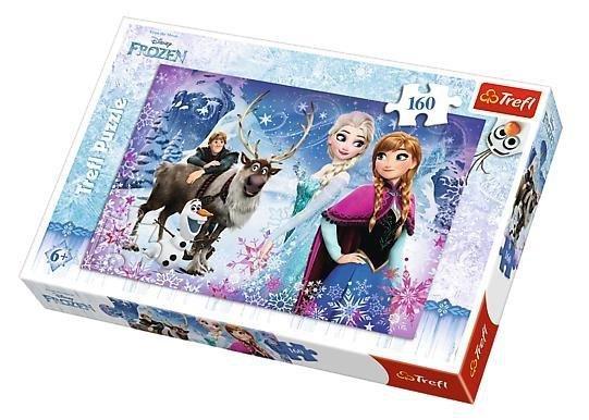 Puzzle 160 Zimowe przygody Frozen TREFL