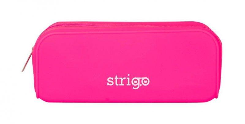 Piórnik SSC055 silikonowy prostokąt różowy STRIGO
