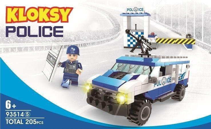 Klocki Kloksy Policja wóz szturmowy 195 elementów