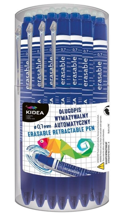 Długopis wymazywalny automatyczny D (24szt) KIDEA