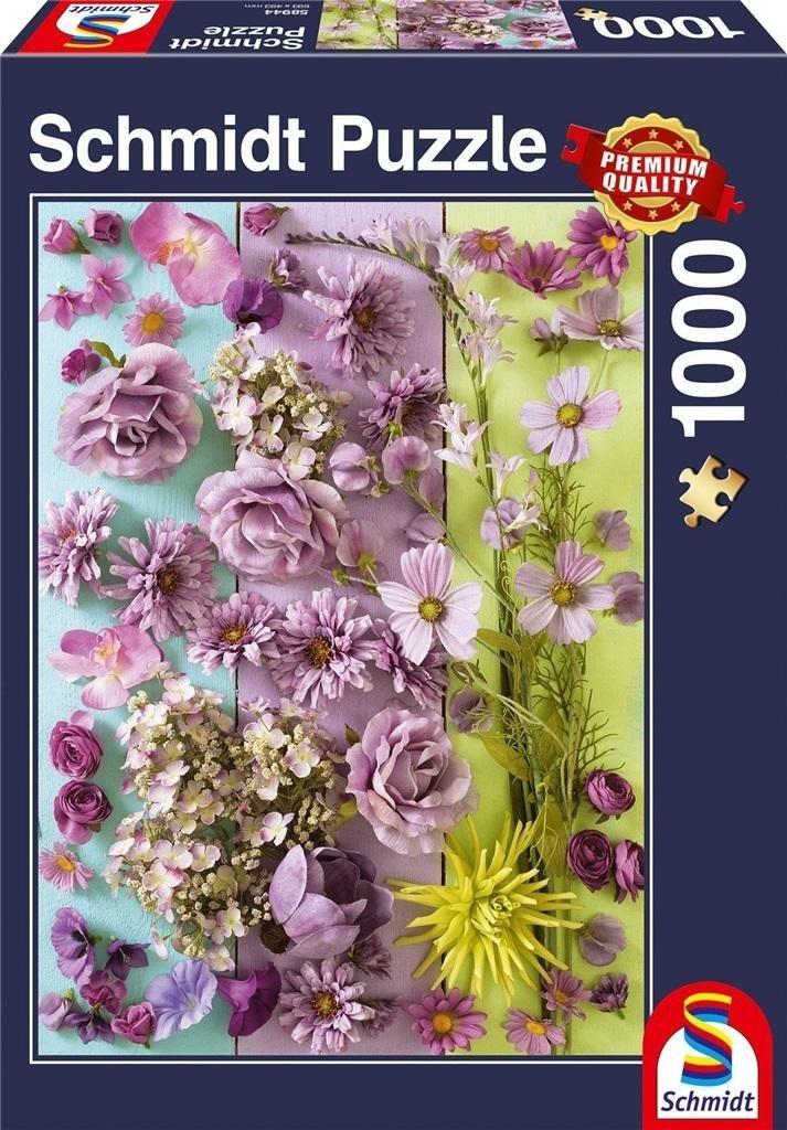 Puzzle PQ 1000 Fioletowe kwiaty G3