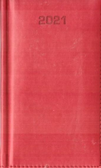 Kalendarz 2021 Tygodniowy A6 Vivella czerwony