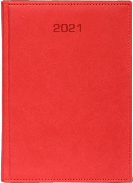 Kalendarz 2021 Tygodniowy B5 Vivella czerwony