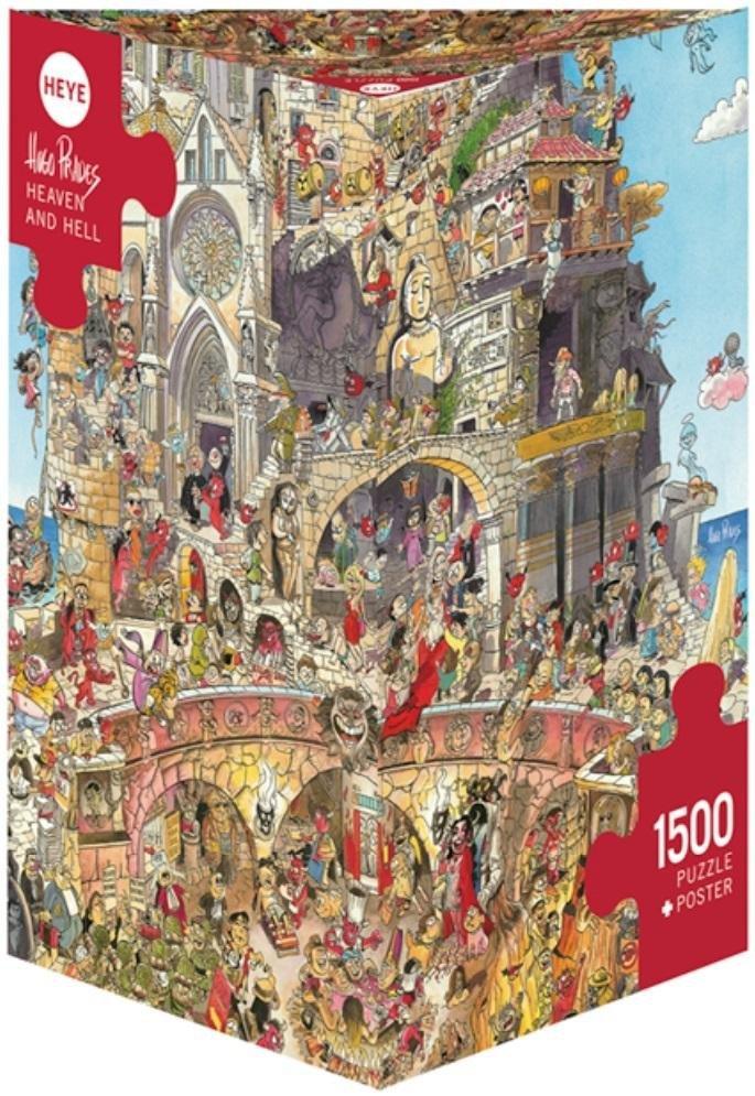 Puzzle 1500 Piekło i niebo(Puzzle+plakat), Prades
