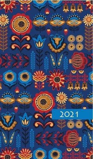 Kalendarz 2021 Tygodniowy Kolorowy ornament