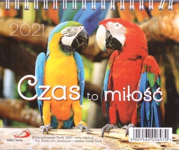 Kalendarz 2021 Biurkowy Czas to miłość