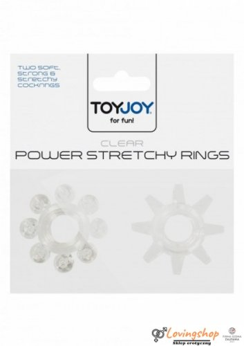 Pierścień-POWER STRETCHY RINGS CLEAR 2PCS