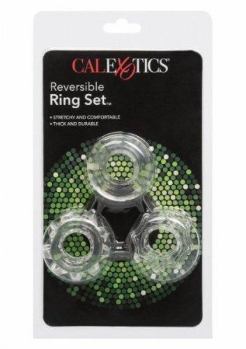 Pierścień-REVERSIBLE RING SET CLEAR
