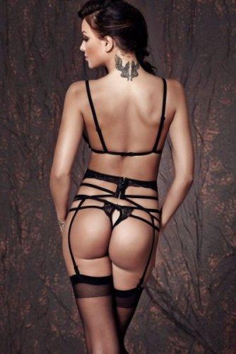Bielizna-Sapphira 3pcs XL (biustonosz,string,pas/bra,string,garter belt)