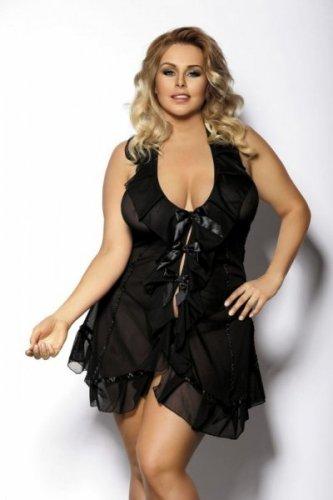 ACRE black chemise L+ ( czarna halka )
