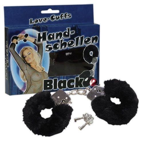 Kajdanki z futerkiem Love-Cuffs czarne
