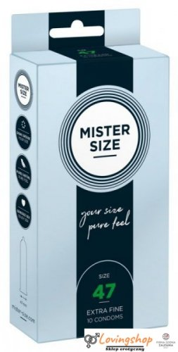 Mister Size 47mm pack of 10