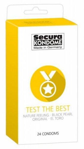 Prezerwatywy Test the Best rózne rodzaje 24 szt. Secura