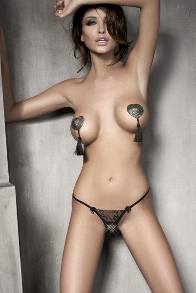 Bielizna-Evita black string M (czarne stringi)