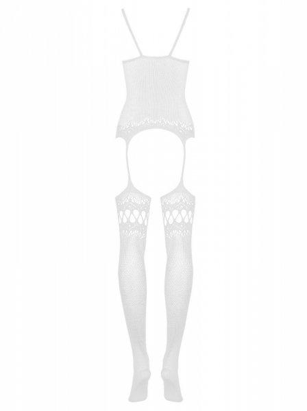 Bielizna-Bodystocking F214 białe  S/M/L