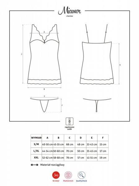 Miamor koszulka i stringi bordowa  S/M