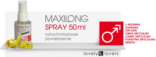 MAXILONG Spray 50ml SZYBKIE, MOCNE POWIĘKSZENIE PENISA