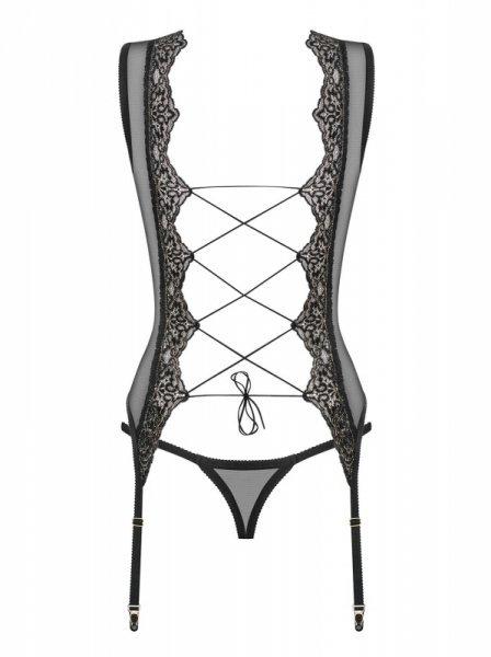 Komplet Meshlove gorset + stringi rozmiar L/XL