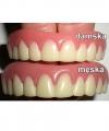 Sztuczne zęby - News Star (damska górna i dolna szczęka, kolor naturalny)
