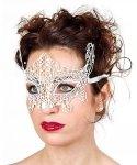 Maska wenecka - Koronka Butterfly White