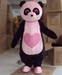 Strój chodzącej maskotki - Miś Panda Serduszko