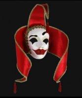 Maska wenecka -  Contessa Red
