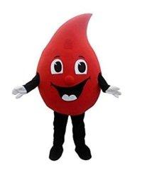 Strój żywej maskotki - Kropla Krwi