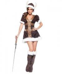 Kostium sceniczny - Dziewczyna Wikinga XL