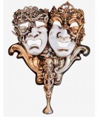 Maska wenecka - Diamond Dualismus Stick