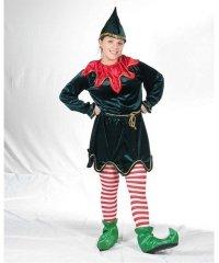 Profesjonalny strój pomocnczki Świętego Mikołaja - Pani Elf Deluxe 2