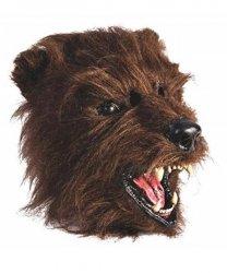 Maska lateksowa - Miś Grizzly