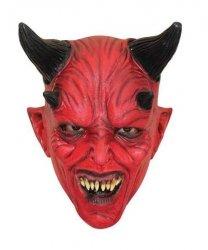 Maska lateksowa - Diabeł rogaty