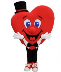 Strój chodzącej maskotki - Serce VIII