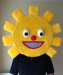 Głowa chodzącej maskotki - Słoneczko