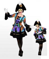 Profesjonalny strój klauna - Pani Błazen