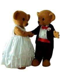 Strój reklamowy - Para Miśków na ślubnym kobiercu 4