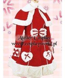 Kostium świąteczny - Wiktoriański płaszczyk z kołnierzem