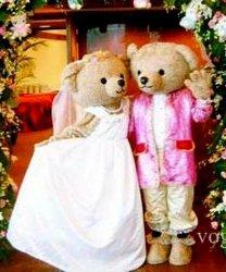 Strój reklamowy - Para Miśków na ślubnym kobiercu 3