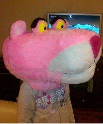 Głowa chodzącej maskotki - Pantera