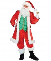 Profesjonalny strój Świętego Mikołaja - Św. Mikołaj Deluxe z dzwonkiem