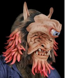 Maska lateksowa - Jednooki Ghul