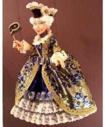 Marionetka wenecka - Lady Barok (73,5 cm)