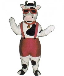 Strój chodzącej maskotki - Krowa Turysta