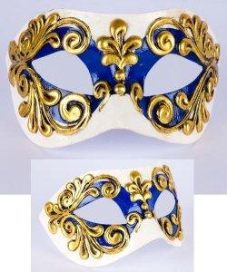 Maska wenecka - Colombina Occhi Blue